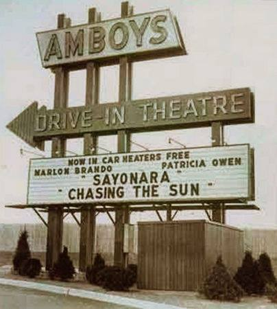Amboy Drive in movie theatre