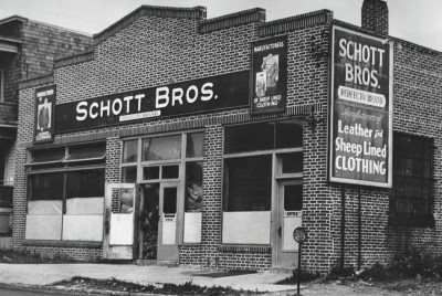 schott bros clothing store designed leather motorcycle jackets