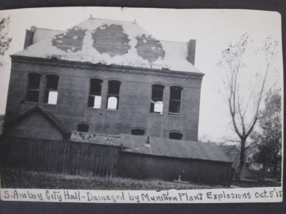 south amboy City Hall after Explosion 1819