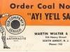 COAL CERTIFICATE
