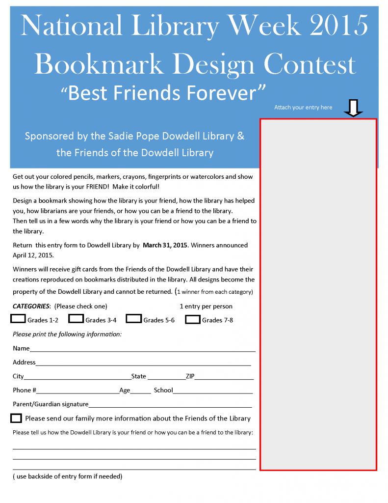 bookmark contest 2015