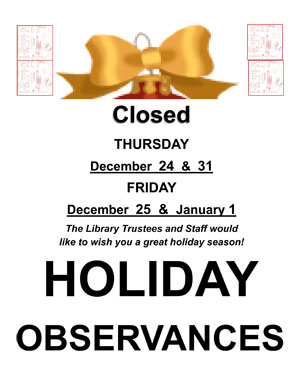 Holiday Observances 2015